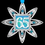 65th Anniversary Ornament in Silver