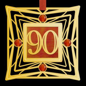 90th Anniversary Ornaments