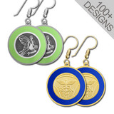 Handcrafted Colorful Round Earrings