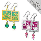 Handmade Square Beaded Earrings