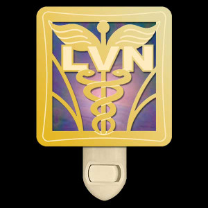 Stained Glass Night Light for LVN Nurse