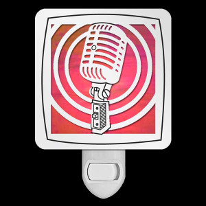 Retro Microphone Night Light