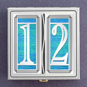 Recovery Gift Pill Box with Number 12