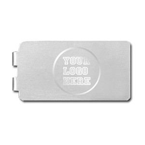 Logo Engraved Silver Money Clips Made in USA - Satin