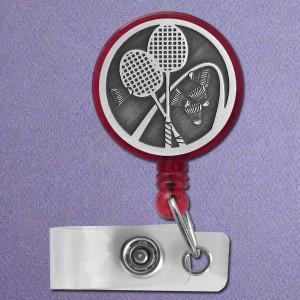 Badminton Retractable ID Badge Holder - Customized