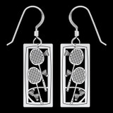 Badminton Player Earrings