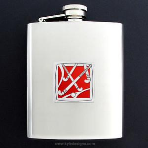 Field Hockey Flask 8 Oz. Stainless Steel