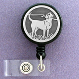 Dog Badge Holder with Labrador Retriever