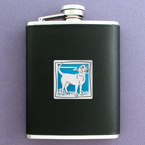 Black Lab Flask 6 Oz