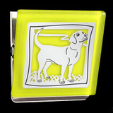Yellow Labrador Retriever Clip Magnet