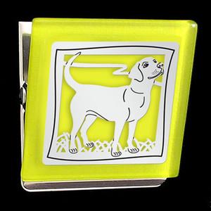 Yellow Labrador Retriever Clip Magnet