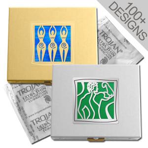 Large Condom Holder Cases in 100s of Decorative Designs