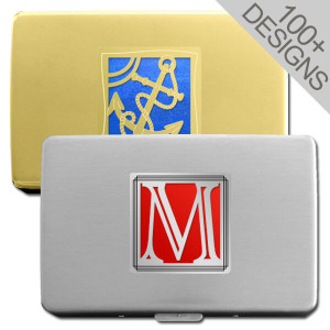 Two-Sided Personalized Cigarette Case Wallet