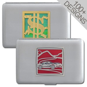 Small Cigarette Case Metal Credit Card Wallet