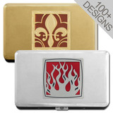 Long Thin Metal Card Wallet 100mm Cigarette Case - 100s of Designs