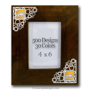Gears Metal & Wood Picture Frame - 100+ Cool Designs