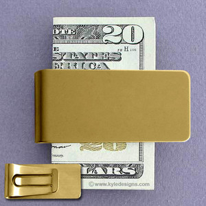 Polished Gold Money Clips