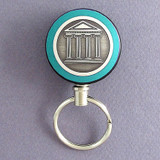 Teal Library Retractable Key Chains