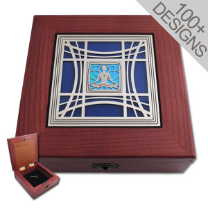Locking Jewelry Boxes - 100+ Glass & Metal Designs 6""