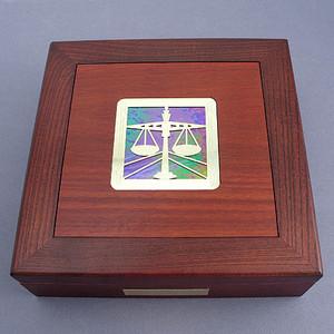 Attorney Jewelry Box - Wood & Glass