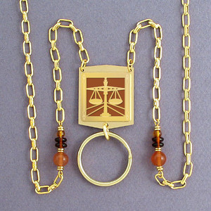 Attorney Name Badge Lanyard or Glasses Chain