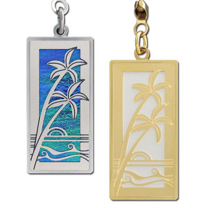 Tropical Palms Ceiling Fan Pull Chain