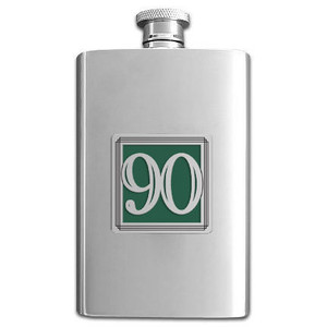 90th Anniversary Liquor Flask 4 Oz.