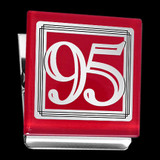 Number 95 Fridge Magnet Clip