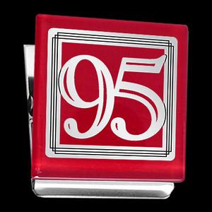 Number 95 Fridge Magnet Clip