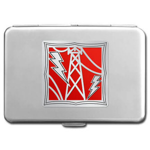 Electrician Metal Card Wallet or Cigarette Case