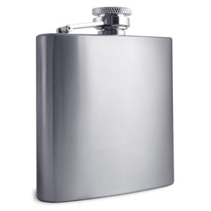 Engraved 8 Oz. Stainless Steel Pocket Flasks