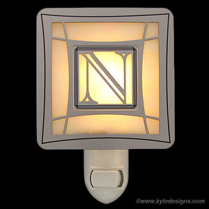 Letter N Monogrammed Night Lights