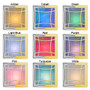 9 Gift Night Light Glass Colors