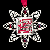 Engraved Live Love Laugh Christmas Tree Ornaments