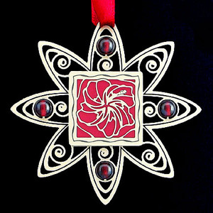 Hibiscus Flower Holiday Ornament