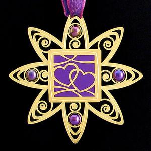 Interlocking Hearts Christmas Ornaments