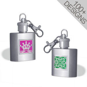 Fun Engraved Keychain Flasks