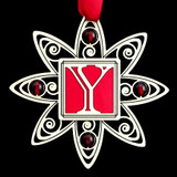 Monogram Letter Y Holiday Ornament
