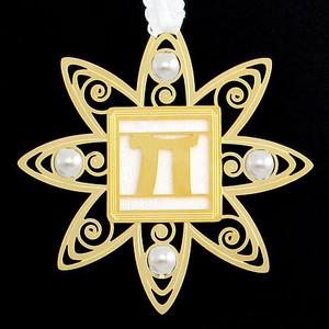 Pi Symbol Christmas Ornaments