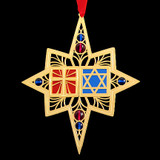 Chrismukkah Interfaith Christmas & Hanukkah Holiday Ornaments
