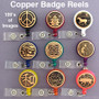 Copper Retractable ID Badges in Creative Designs