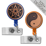 Cool Copper Retractable ID Badge Reels