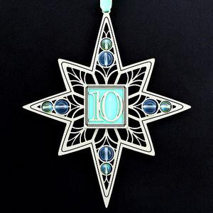 10th Anniversary or Birthday Ornaments
