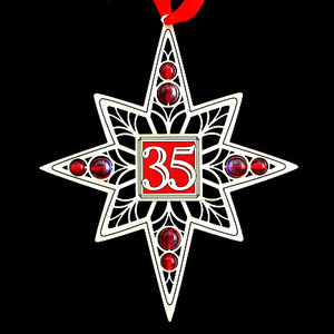 35th anniversary ornaments kyle design