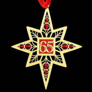 Personalized 65th Birthday Ornaments