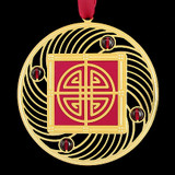 Decorative Crest Christmas Ornament