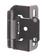 Amerock BP7550-ORB Self-Closing, Partial Wrap 1/2-Inch Overlay Hinge, Oil Rubbed Bronze - (2-pair)