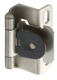 Amerock BP8719-G10 Single Demountable Partial Wrap Hinge, 1/2-Inch Overlay, Satin Nickel - (2-pair)