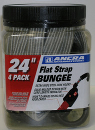 "Ancra 95715 24"" Flat Strap Bungee 4-Pack"