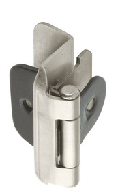 Amerock BP8704-G10 Double Demountable Partial Wrap Hinge, 1/2-Inch Overlay, Satin Nickel - 2 Pair